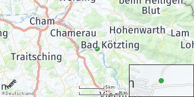 Google Map of Blaibach