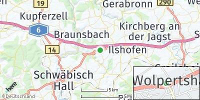 Google Map of Wolpertshausen