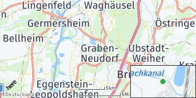 Google Map of Graben-Neudorf