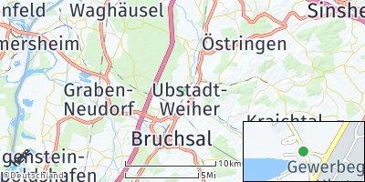 Google Map of Ubstadt-Weiher