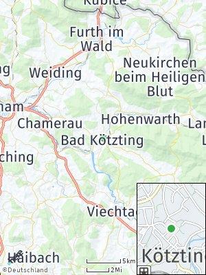 Here Map of Bad Kötzting
