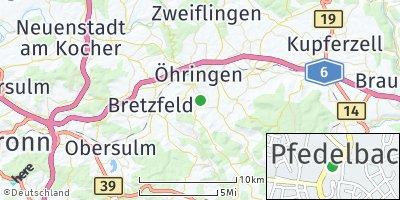 Google Map of Pfedelbach