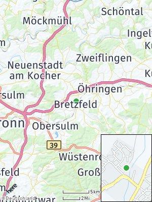 Here Map of Bretzfeld