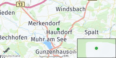 Google Map of Haundorf am Brombachsee