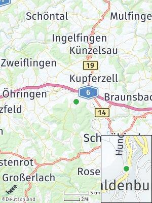 Here Map of Waldenburg