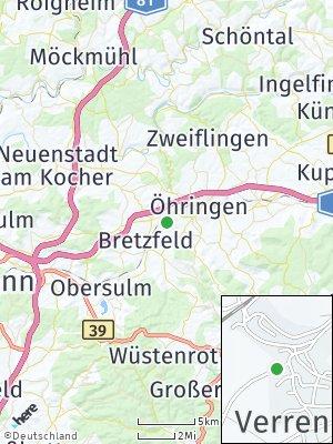 Here Map of Verrenberg