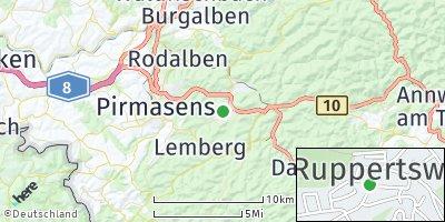 Google Map of Ruppertsweiler