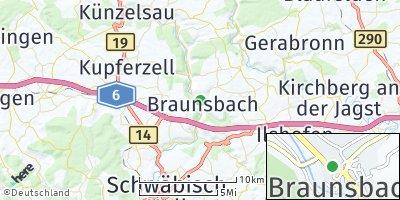 Google Map of Braunsbach