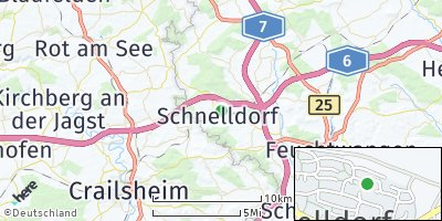 Google Map of Schnelldorf
