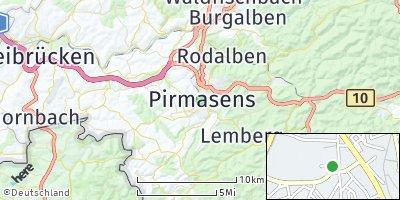 Google Map of Pirmasens