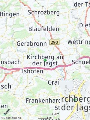Here Map of Kirchberg an der Jagst
