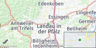 Google Map of Landau in der Pfalz