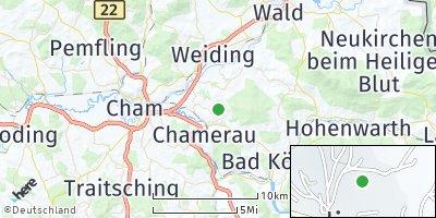 Google Map of Runding bei Cham