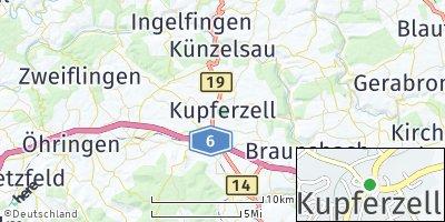 Google Map of Kupferzell