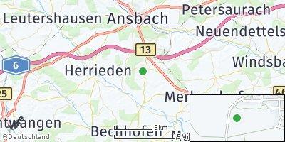 Google Map of Burgoberbach