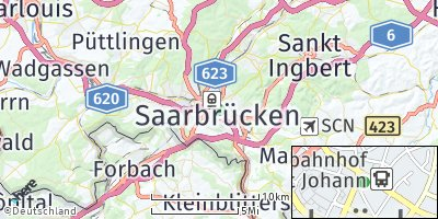 Google Map of Saarbrücken