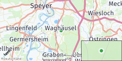 Google Map of Waghäusel