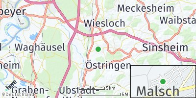 Google Map of Malsch bei Wiesloch