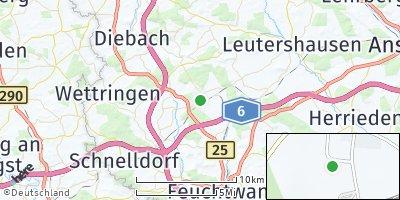 Google Map of Dombühl