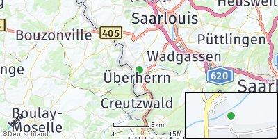 Google Map of Überherrn