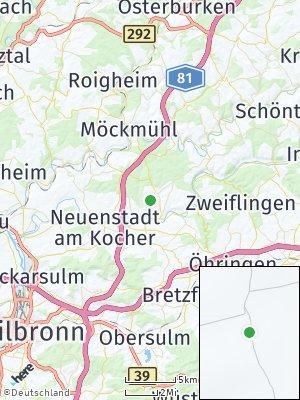 Here Map of Hardthausen am Kocher