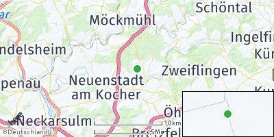 Google Map of Hardthausen am Kocher