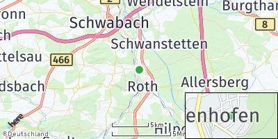 Google Map of Pfaffenhofen bei Nürnberg