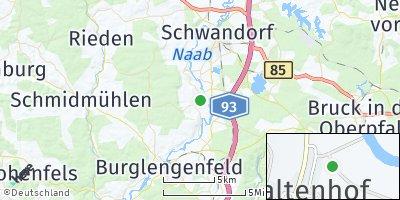Google Map of Waltenhof an der Naab