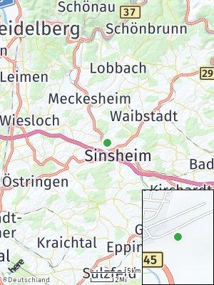 Here Map of Hoffenheim
