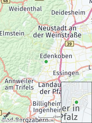 Here Map of Weyher in der Pfalz