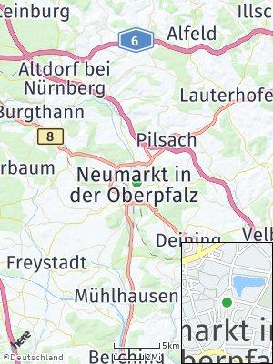 Here Map of Neumarkt in der Oberpfalz