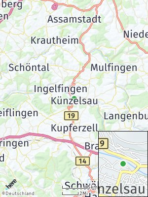 Here Map of Künzelsau