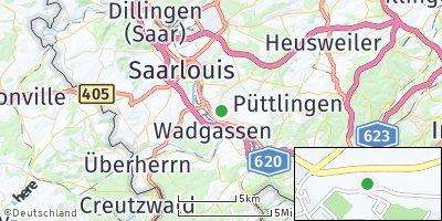 Google Map of Bous
