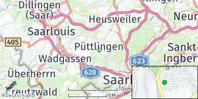 Google Map of Püttlingen