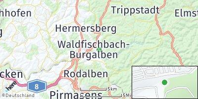 Google Map of Waldfischbach-Burgalben