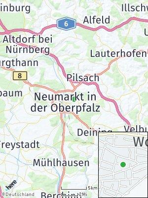 Here Map of Schafhof bei Neumarkt