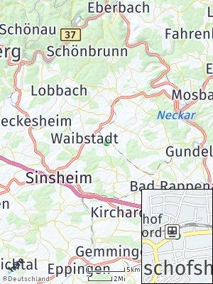 Here Map of Neckarbischofsheim