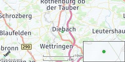 Google Map of Diebach