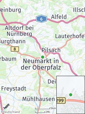 Here Map of Blomenhof bei Neumarkt