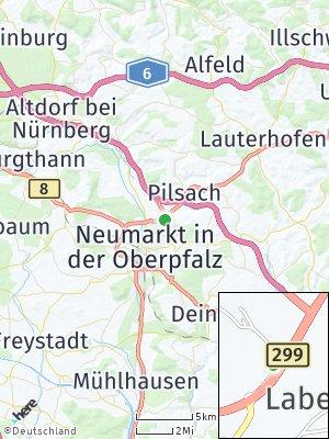 Here Map of Labersricht bei Neumarkt
