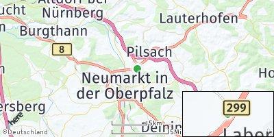 Google Map of Labersricht bei Neumarkt