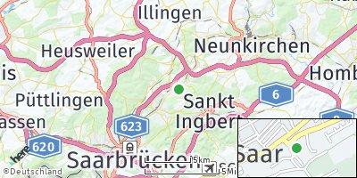 Google Map of Sulzbach / Saar