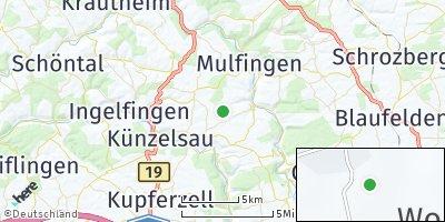 Google Map of Büttelbronn