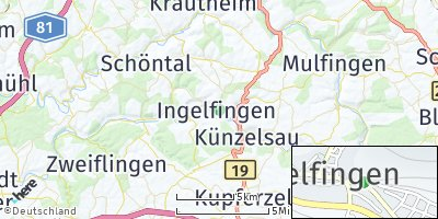 Google Map of Ingelfingen