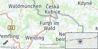 Google Map of Furth im Wald