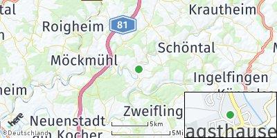 Google Map of Jagsthausen bei Heilbronn