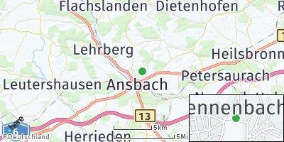 Google Map of Hennenbach