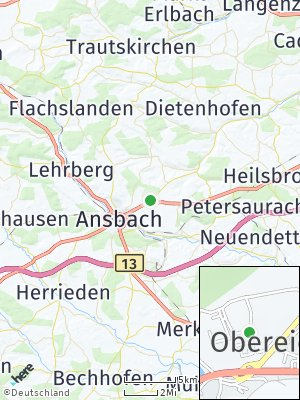 Here Map of Obereichenbach