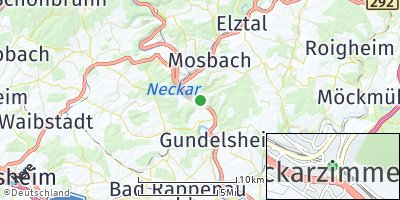Google Map of Neckarzimmern