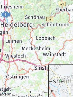 Here Map of Meckesheim